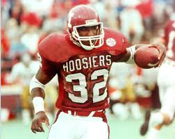 Anthony Thompson while playing for the Indiana Hoosiers.