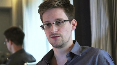NSA whistleblower Edward Snowden, an analyst with a U.S. defence contractor, is seen in this file still image taken from video during an int