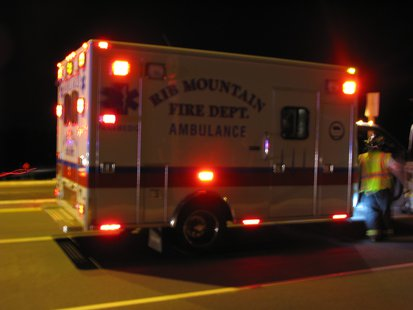 Rib Mountain Ambulance at Maple Ridge Road incident.