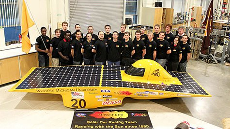 Members of Western Michigan University's Sunseeker solar race team are celebrating 23 years of solar racing with a trip to Austin, Texas, to compete Monday through Saturday, June 24-29, against teams from other engineering colleges in the Formula Sun Grand Prix 2013.
