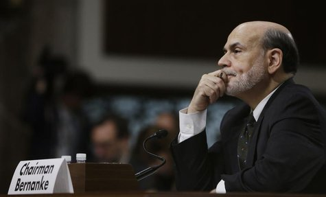 Federal Reserve Board Chairman Ben Bernanke listens to opening remarks before testifying at the Joint Economic Committee in Washington May 2