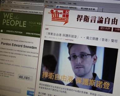 "A statement by Hong Kong online media ""In Media Hong Kong"" supporting Edward Snowden, a contractor at the National Security Agency (NSA), is"