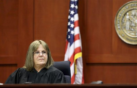 Judge Debra Nelson is pictured on the second day of jury selection in the murder trial of George Zimmerman in Sanford, Florida in this file