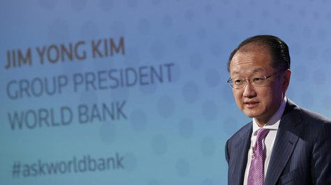 World Bank President Jim Yong Kim speaks at a Thomson Reuters Newsmaker event, at Canary Wharf in east London June 19, 2013. REUTERS/Stefan