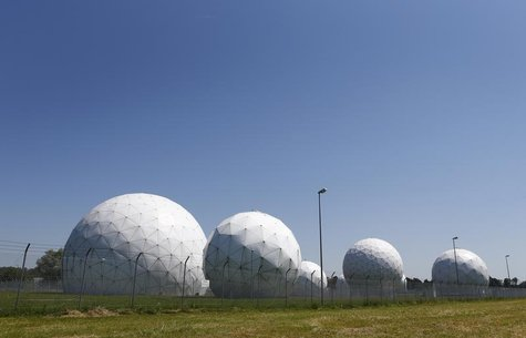 A general view of the large former monitoring base of the U.S. intelligence organization National Security Agency (NSA) in Bad Aibling south