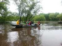 DNR Warden Cody Adams during Wisconsin River rescues 6/22/13.  Photo: Wis. DNR