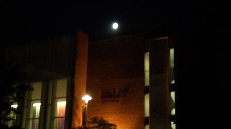Moon over Miller Auditorium