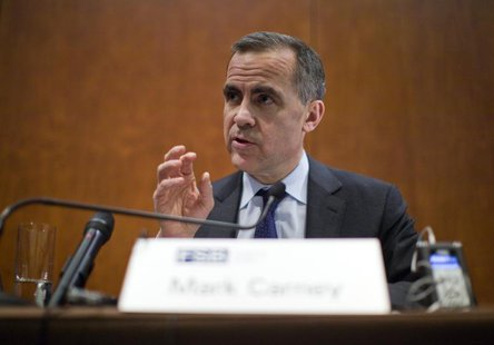 Mark Carney, Bank of Canada Governor and chairman of the Financial Stability Board speaks during a news conference after a Financial Stabili