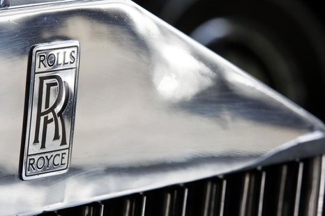 The company logo is seen on a Rolls Royce Phantom III car at the Continental Automobile dealership in Villeneuve sur Lot, Southwestern Franc