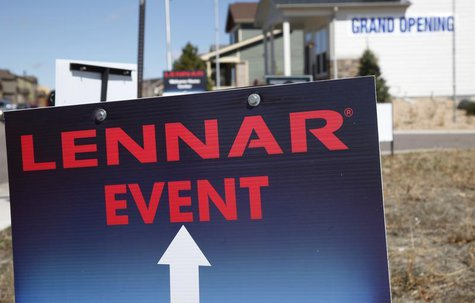 A Lennar model home is open for customers in a new neighborhood in the Denver suburb of Thornton, Colorado March 29, 2011. REUTERS/Rick Wilk