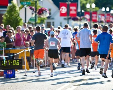 Action from the 2012 Zeeland Zoom 5K (photo courtesy City of Zeeland)