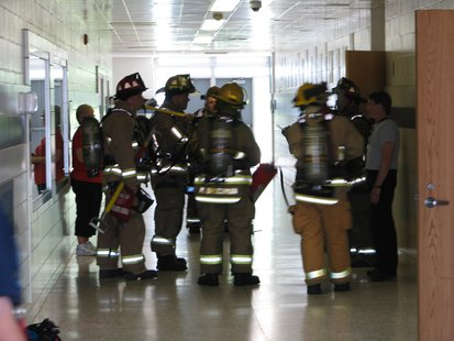 Firefighters investigate smoke at John Muir Middle School