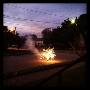 Neighborhood fireworks display (courtesy of Flickr).