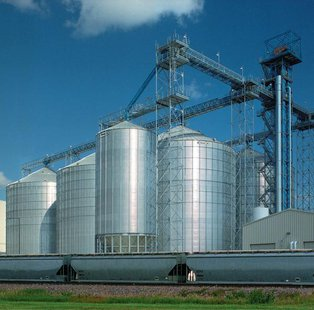 commercial grain bins - file photo