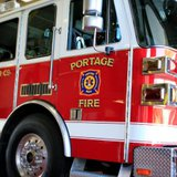 Portage firefighters responded to the blaze.