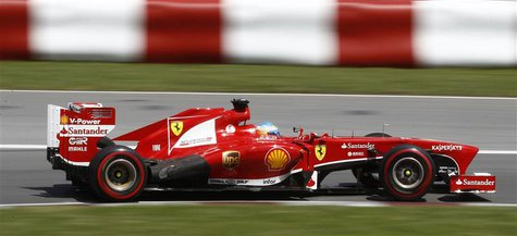 Ferrari Formula One driver Fernando Alonso of Spain drives during the Canadian F1 Grand Prix at the Circuit Gilles Villeneuve in Montreal Ju