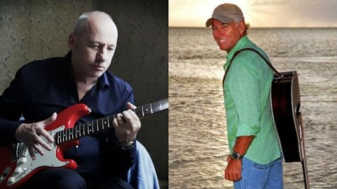 Image courtesy of MarkKnopfler.com; Facebook.com/JimmyBuffett (via ABC News Radio)