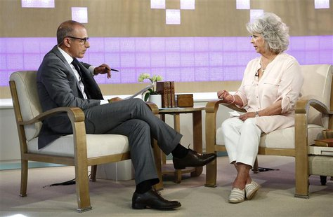 "Matt Lauer interviews Paula Deen (R) on NBC News' ""Today"" show in this handout released to Reuters on June 26, 2013 by NBC NewsWire. U.S. ce"