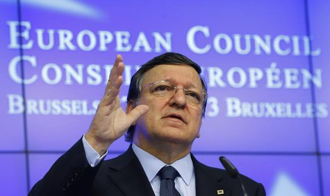 European Commission President Jose Manuel Barroso holds a news conference during the European Union leaders summit in Brussels June 28, 2013