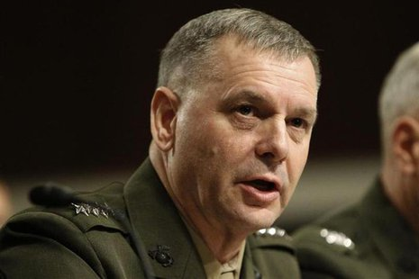File photo of General James E. Cartwright, USMC Vice Chairman of the Joint Chiefs of Staff, testifies before the Senate Armed Services Commi