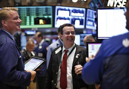 Traders work on the floor at the New York Stock Exchange, June 27, 2013. REUTERS/Brendan McDermid