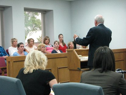 Attorney Brown gives closing arguments to the jury