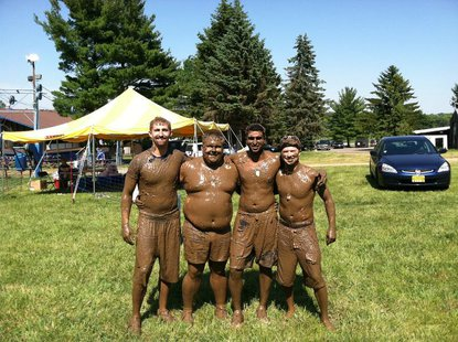 Participants in the 2012 Muddy Patriot.