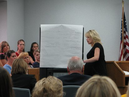 Theresa Wetzsteon, Marathon County Assistant District Attorney, making her closing arguments to the jury