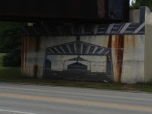 A view of the Washington Avenue railway bridge mural northside.