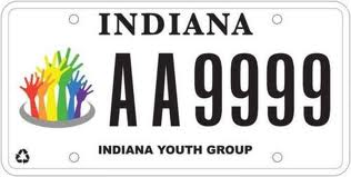 Indiana Youth Group Plate