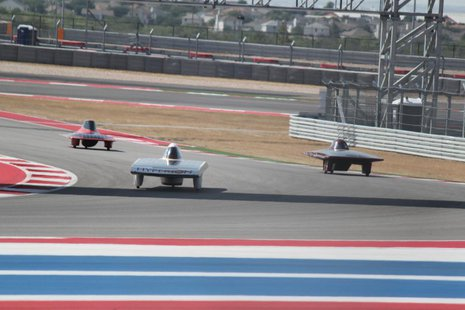 A little head to head racing at the Circuit of the Americas course in Texas.