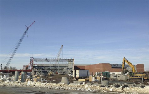 A new $75 million recreational center being built in Williston, North Dakota is seen in this picture taken March 27, 2013. REUTERS/Ernest Sc