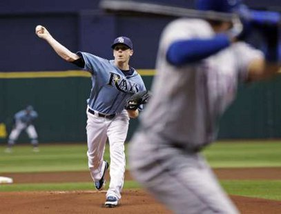Tampa Bay Rays pitcher Jeremy Hellickson REUTERS/Pierre Ducharme