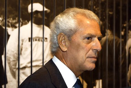 Pireli president Marco Tronchetti Provera arrives at the opening of Pirelli flagship store downtown in Milan, Septmber 20, 2011. REUTERS/Ste