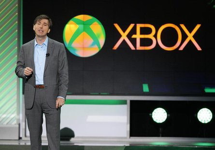 Don Mattrick, President of Microsoft's Interactive Entertainment Business, speaks during the Xbox E3 Media Briefing at USC's Galen Center in
