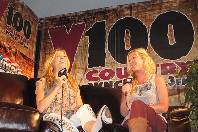 Abby interviews her childhood idol, Sheryl Crow.  Sheryl returns the love.