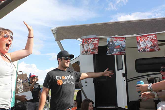 Easton Corbin visits the campgrounds with Charli