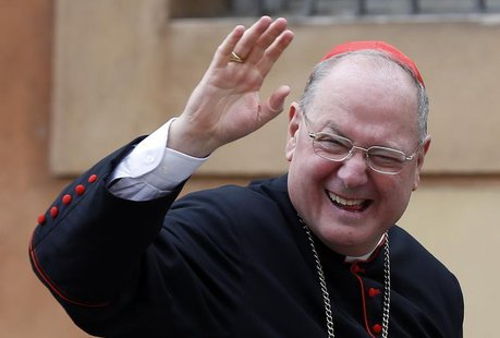 Cardinal Timothy Dolan of the U.S. arrives for a meeting at the Synod Hall at the Vatican, March 9, 2013. REUTERS/Alessandro Bianchi