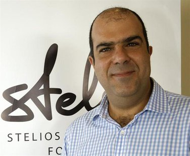 Stelios Haji-Ioannou, founder of the EasyGroup chain of companies, poses at an event hosted by his charity foundation in Larnaca, Cyprus, Oc