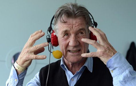 Comedian and presenter Michael Palin is interviewed on BBC Test Match Special during the tea break during the first test cricket match betwe