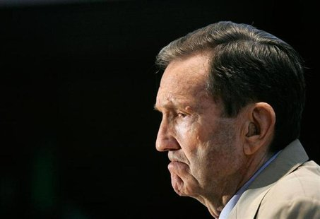 Former U.S. Attorney General Ramsey Clark holds a discussion on the probability of a death or life sentence for Saddam Hussein in Washington