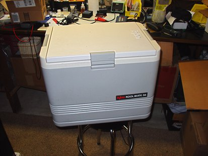 Large beverage cooler (courtesy of Flickr).