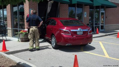 Car crashes into Starbucks at 1015 Winneconne Ave in Neenah