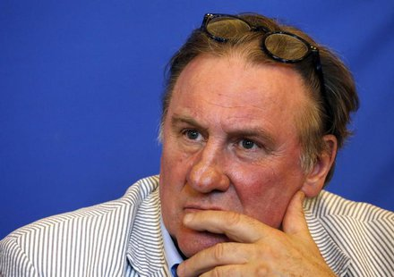 Actor Gerard Depardieu attends a news conference to present the 1st edition of a Russian Film Festival in Nice June 6, 2013. REUTERS/Eric Ga