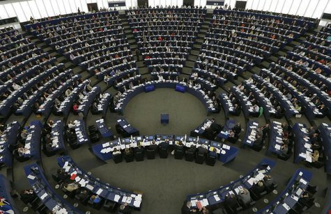 Members of the European Parliament take part in a voting session at the European Parliament in Strasbourg, July 3, 2013. REUTERS/Vincent Kes