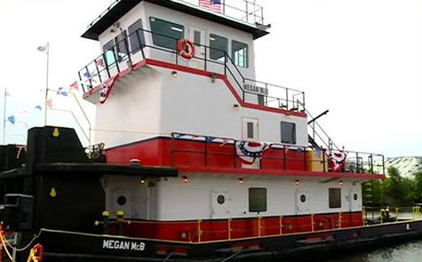Tug boat Megan McB in La Crosse Harbor