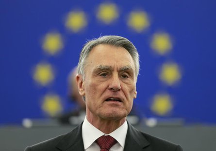 Portugal's President Anibal Cavaco Silva addresses the European Parliament in Strasbourg, June 12, 2013. REUTERS/Vincent Kessler