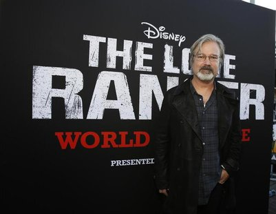 "Director of the movie Gore Verbinski poses at the world premiere of ""The Lone Ranger"" at Disney California Adventure Park in Anaheim, Califo"