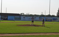 Mike Mathers 1st pitch at the Woodchucks game 7/5/13 4