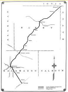 A map of the CK&S Rairoad
